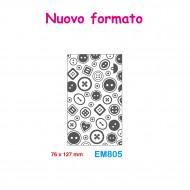 Cartella effetto rilievo 2D Embossing Forma Bottoni 76x127mm - Wiler EM805
