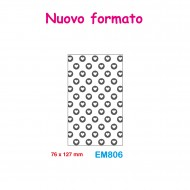 Cartella effetto rilievo 2D Embossing Forma Cuori 76x127mm - Wiler EM806