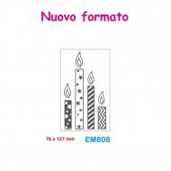 Cartella effetto rilievo 2D Embossing Forma Candele 76x127mm - Wiler EM808