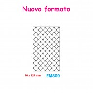 Cartella effetto rilievo 2D Embossing Forma Graticcio fiori 76x127mm - Wiler EM809