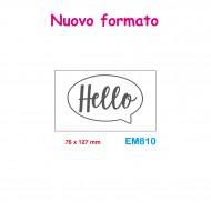 Cartella effetto rilievo 2D Embossing Forma Hello 76x127mm - Wiler EM810
