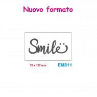 Cartella effetto rilievo 2D Embossing Forma Smile 76x127mm - Wiler EM811