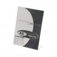 """Portadepliant  a """"L"""" Formato A6 in Acrilico Trasparente - Wiler PMMA5705"""