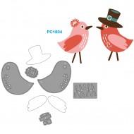 Fustelle Sottili Per Macchina Fino a 80mm forma uccellini - Wiler PC1804