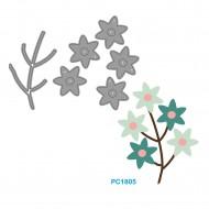Fustelle Sottili Per Macchina Fino a 80mm forma fiori - Wiler PC1805