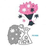 Fustelle Sottili Per Macchina Fino a 80mm forma bouquet fiori - Wiler PC1808