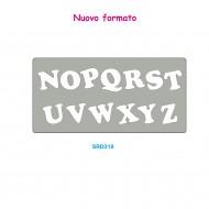 Fustelle Alte in acciaio forma alfabeto N - Z per ISA4 152x305 mm - Wiler SRD318