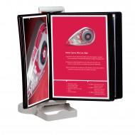 Portadepliant  A4 con Supporto Inclinabile in Metallo, da tavolo o da parete, Lebez 5001