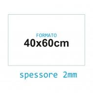 Feltro rigido bianco 2 mm 40x60 confezione foglio singolo - Wiler FELT4060H2C01