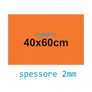 Feltro rigido arancione fiamma 2 mm 40x60 confezione foglio singolo - Wiler FELT4060H2C06