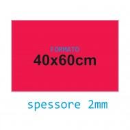 Feltro rigido rosso 2 mm 40x60 confezione foglio singolo - Wiler FELT4060H2C07