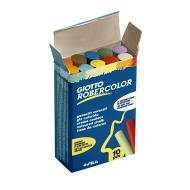 Gessi colorati robercolor tondi in scatola da 10 pezzi - Giotto 538900 / 35271