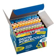 Gessi colorati robercolor tondi in scatola da 100 pezzi - Giotto 539000 / 55410