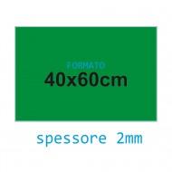 Feltro rigido verde 2 mm 40x60 confezione foglio singolo - Wiler FELT4060H2C22