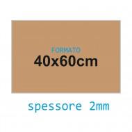 Feltro rigido pelle 2 mm 40x60 confezione foglio singolo - Wiler FELT4060H2C25