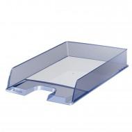 Vaschetta Portacorrispondenza Azzurro Traslucido Europost - Formato cm. 25x6,5x35 - Esselte 623599