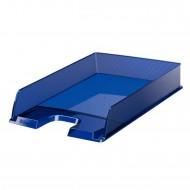 Vaschetta Portacorrispondenza Blu Traslucido Europost - Formato cm. 25x6,5x35 - Esselte 623600