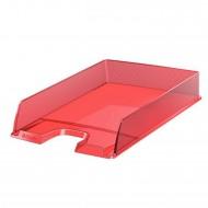 Vaschetta Portacorrispondenza Rosso Traslucido Europost - Formato cm. 25x6,5x35 - Esselte 623601