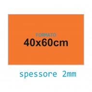 Feltro soffice arancione fiamma 2 mm 40x60 confezione foglio singolo - Wiler FELT4060S2C06