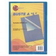 "Buste a ""L"" Lucide in PPL Azzurro Trasparente - Confezione (15 buste) - 34956430"