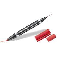 Marcatore punta M / F - 0,4mm Rosso Lumocolor Permanent Duo - Staedtler 348- 2