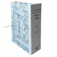 Cartella Archivio con Legacci Realizzata in Cartone Rivestito Dorso 5 cm