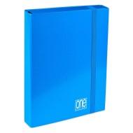 Portaprogetti Blu Dorso 7 cm One Color Chiusura con elastico - Blasetti 5747