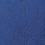 Cartoncino Blu Scuro A4 230gr Goffrato Copertine Leathergrain 100pz - GBC CE040029