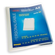 Portalistino Personalizzabile Trasparente a 10 Buste Antiriflesso Formato A4 in PPL -Wiler XP10T