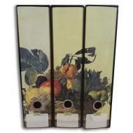 Registratori a 2 anelli trittico da collezione, dorso 8cm Caravaggio, Vaso con Iris - Kaos Gut edizioni 9109