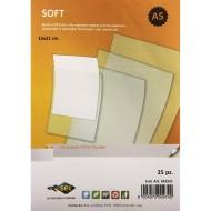 Buste Soft A5 cm.15x21 con apertura in alto - PP liscio Alto Spessore Trasparente Conf. 25 buste -Sei Rota 651521