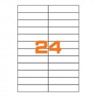 Etichette Permanenti 105x25mm 24 Adesivi 100 Fogli A4 - Markin C547