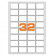Etichette Permanenti 47.5x35mm 32 Adesivi 100 Fogli A4 - Markin A407