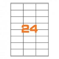 Etichette Permanenti 70x36mm 32 Adesivi 100 Fogli A4 - Markin C500