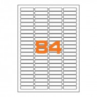 Etichette Permanenti 46x11,1mm 84 Adesivi 100 Fogli A4 - Markin A405