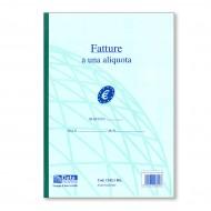 Fatture ad 1 Aliquota 29.7x21.5cm Blocco di 50 Fogli a 2 Copie Autoricalcanti - Gruppo Buffetti Mod. 490/C
