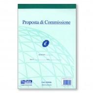 Proposte di Commissione Ric. 50 Fogli Duplice Copia Autoricalcante 21.5x14.8cm - Gruppo Buffetti 1230 Ric