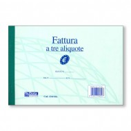 Fattura a tre aliquote duplice copia autoricalcante 21.5x14.8 - Gruppo Buffetti 1244 Ric
