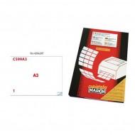 Etichette Permanenti 42x29.7mm 1 Adesivo 100 Fogli A3 Premium - Markin C599