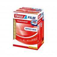 Rotoli Nastro Adesivo Tesafilm Trasparente 8 Pezzi da 66m x19m Office Box - Tesa 57406-00002