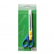 Forbici / Cutter doppio uso con impognatura in plastica 2 in 1- Lebez 903