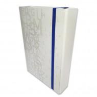 Portaprogetti Bianco Dorso 3 cm Linea Luna Chiusura con elastico piatto - Tecnoteam 003363