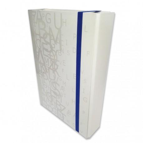 Portaprogetti Bianco Dorso 5 cm Linea Luna Chiusura con elastico piatto - Tecnoteam 003424