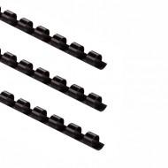 Dorsi plastici Nero 21 anelli da 8m m a spirale per Rilegatura - Pont by Tecnoteam 909665