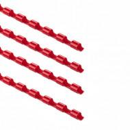 Dorsi plastici Rosso 21 anelli da 8m m a spirale per Rilegatura - Point by Tecnoteam 909696