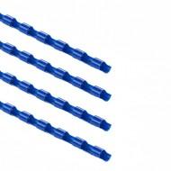 Dorsi plastici Blu 21 anelli da 10mm a spirale per Rilegatura - Point by Tecnoteam 911224