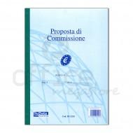 Blocco Proposte di Commissione 50 Fogli Duplice Copia Autoricalcante 30x21,5cm - Gruppo Buffetti 1232