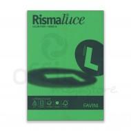 Carta Colorata Verde 60 Formato A4 200g Rismaluce 125 Fogli - Favini A67D104