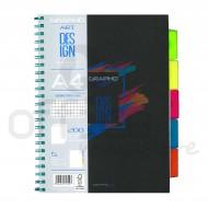 Maxi Spiralato Grapho Art Design rigo Q A4 notebook con 5 Separatori - Tecnoteam 727597