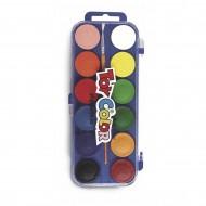 Acquerelli 12 Pastiglie da 30mm vari colori con pennello - ToyColor 702